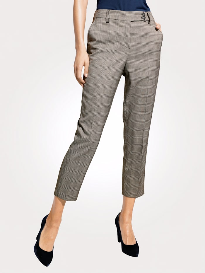 Trousers with Glencheck pattern