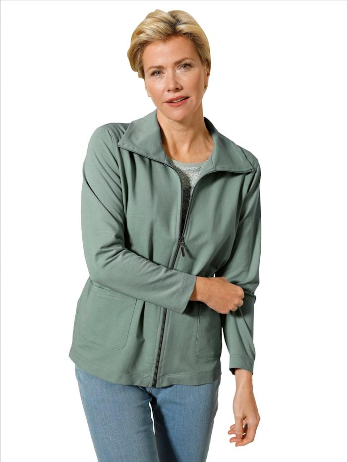 MONA Sweatjacke mit weitenregulierbarem Taillenband, Mintgrün