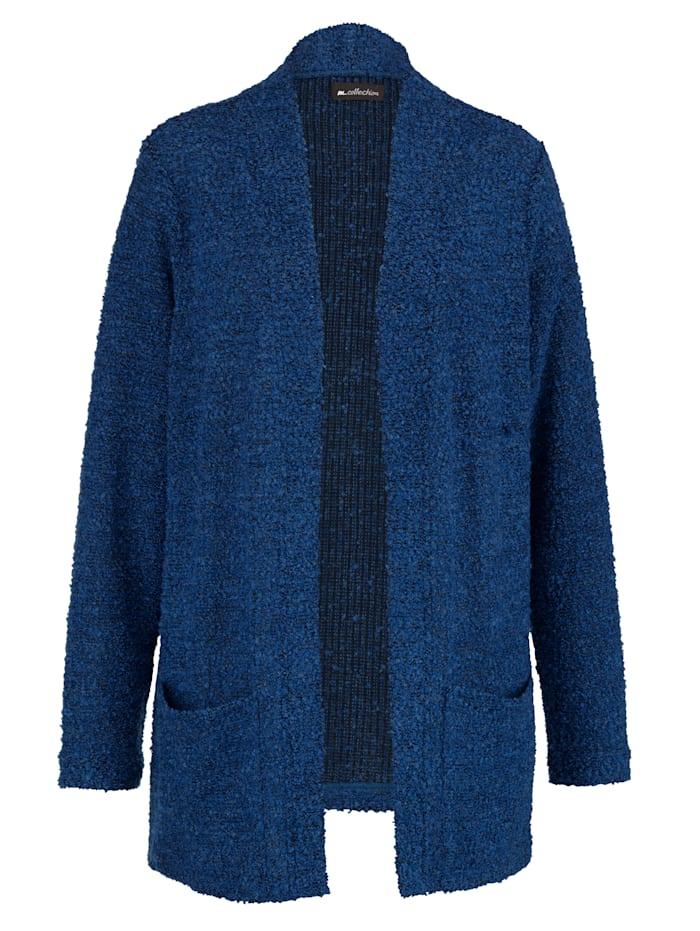 m. collection Veste en maille bouclette, Bleu roi