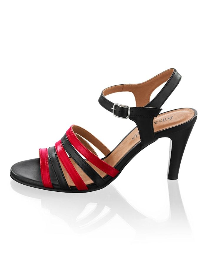 Sandalette in kontrastiger Zweifarbigkeit