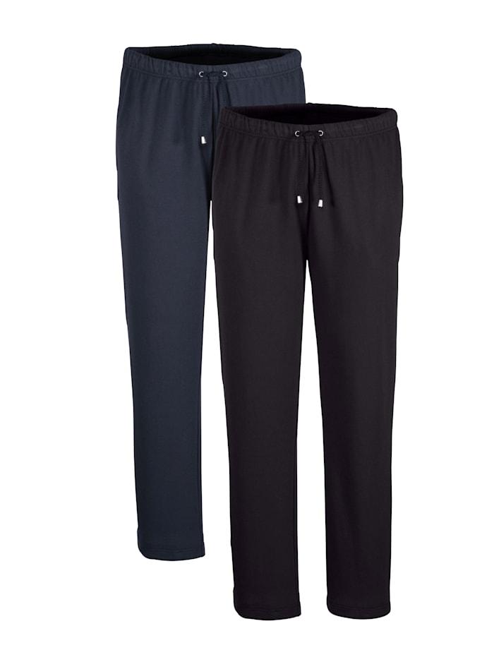 BABISTA Lot de 2 pantalons de loisirs Taille entièrement extensible, Marine/Noir