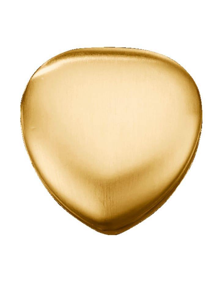 Magnetic Balance Hjärtformad magnet i rostfritt stål, Guldfärgad/Silverfärgad