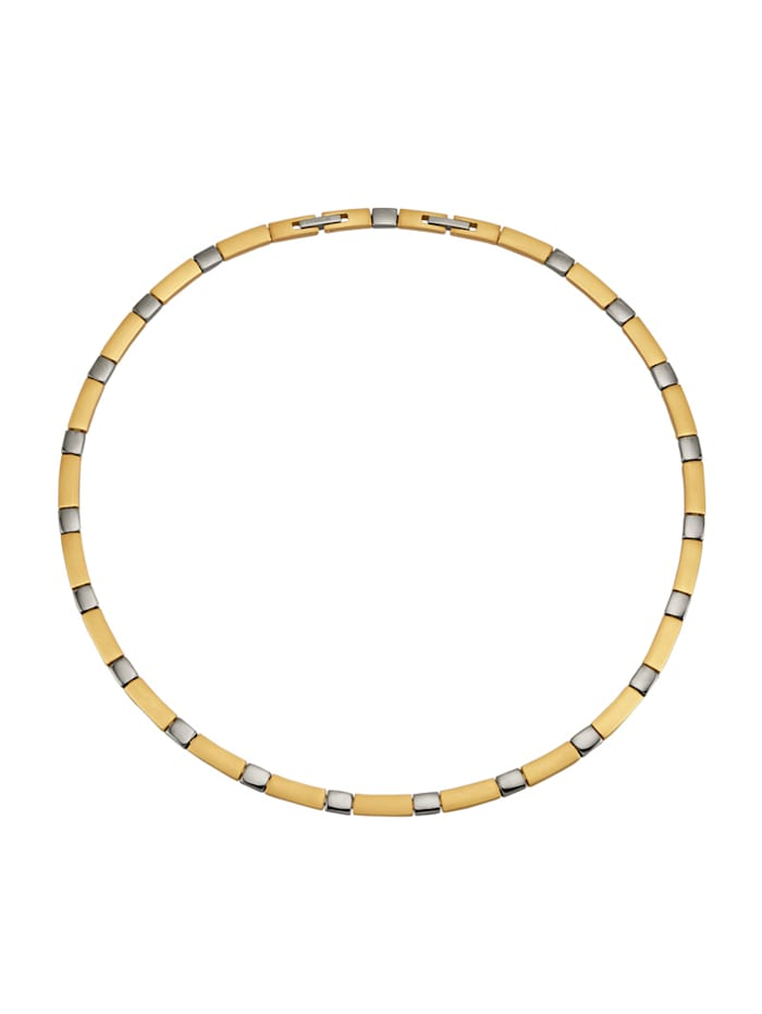 Collier en titane, Coloris or jaune