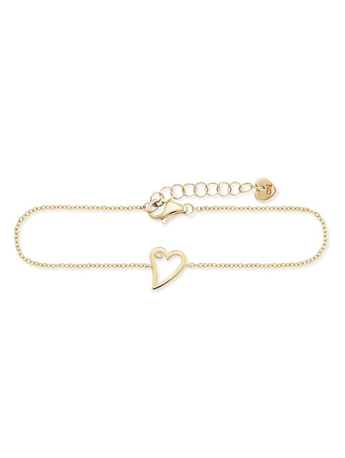 CAI Armband 925/- Sterling Silber Zirkonia 16+3cm vergoldet, gelb