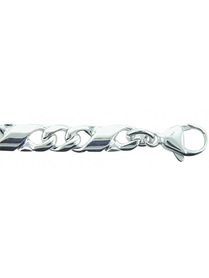 1001 Diamonds Damen Silberschmuck 925 Silber Fantasie Armband 21 cm Ø 5,6 mm, silber