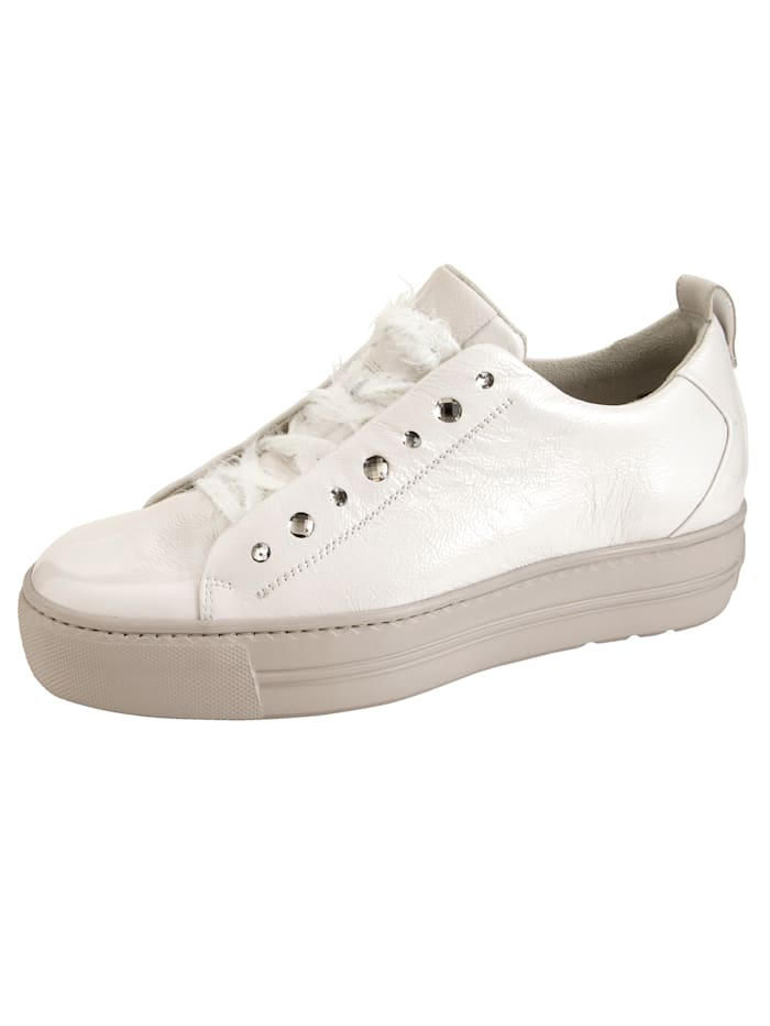 Paul Green Sneaker met supersoft finish, Offwhite