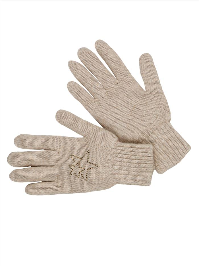 MIAMODA Handschuhe mit Woll- und Kaschmiranteil, Camel