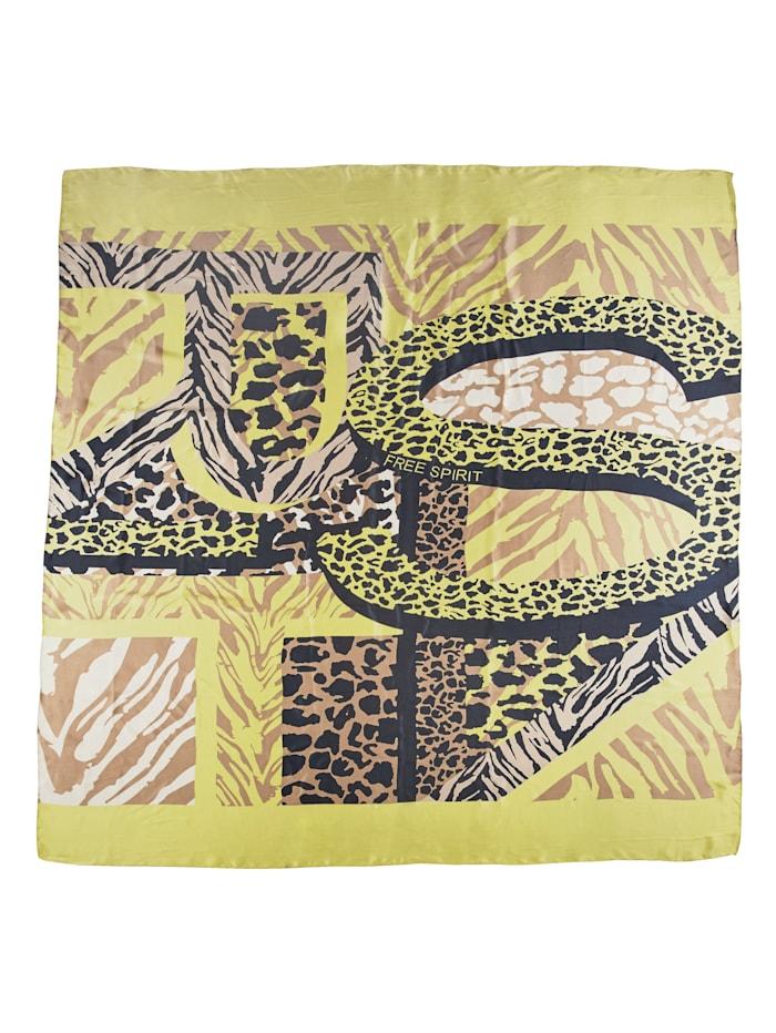 Sjaaltje met grafisch patroon rondom