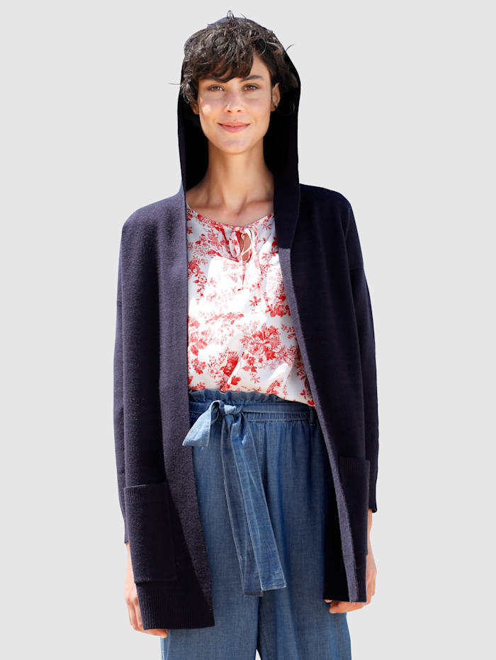 Dress In Strickjacke in offener Form, Marineblau