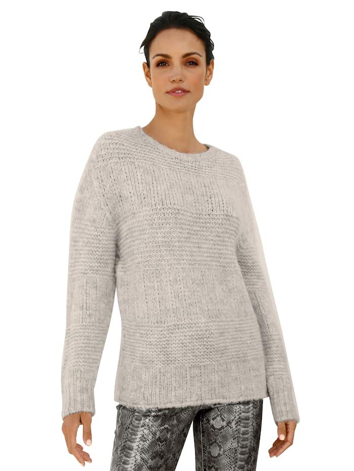 AMY VERMONT Pullover in flauschiger Qualität, Ecru
