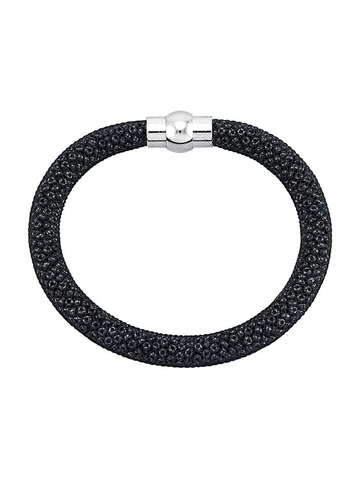 Golden Style Mesharmband, Zwart