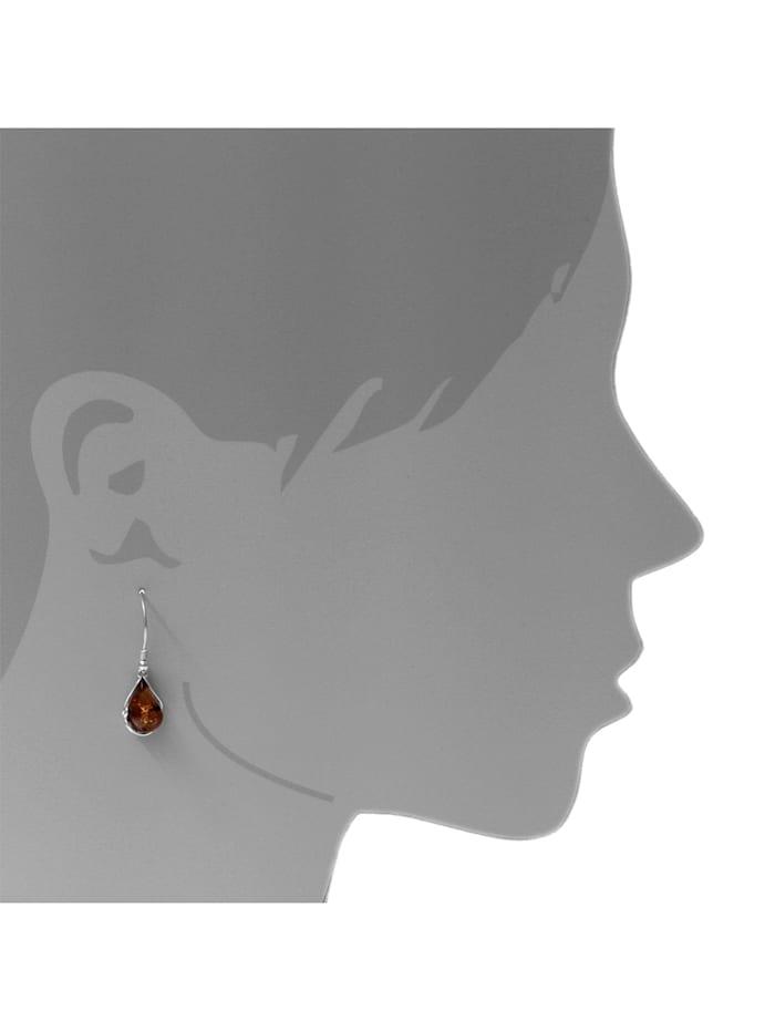 Ohrhänger - Gabi - Silber 925/000 - Bernstein
