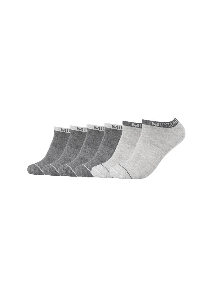 Mustang Sneakersocke im praktischen 6er-Pack, dark grey mix