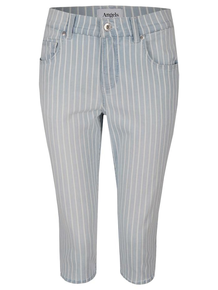 Angels Jeans 'Capri' mit modischem Streifenmuster, ice blue used