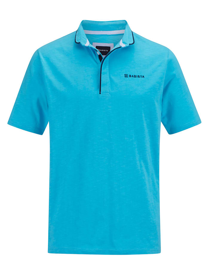 BABISTA Shirt met modieuze opstaande kraag, Turquoise