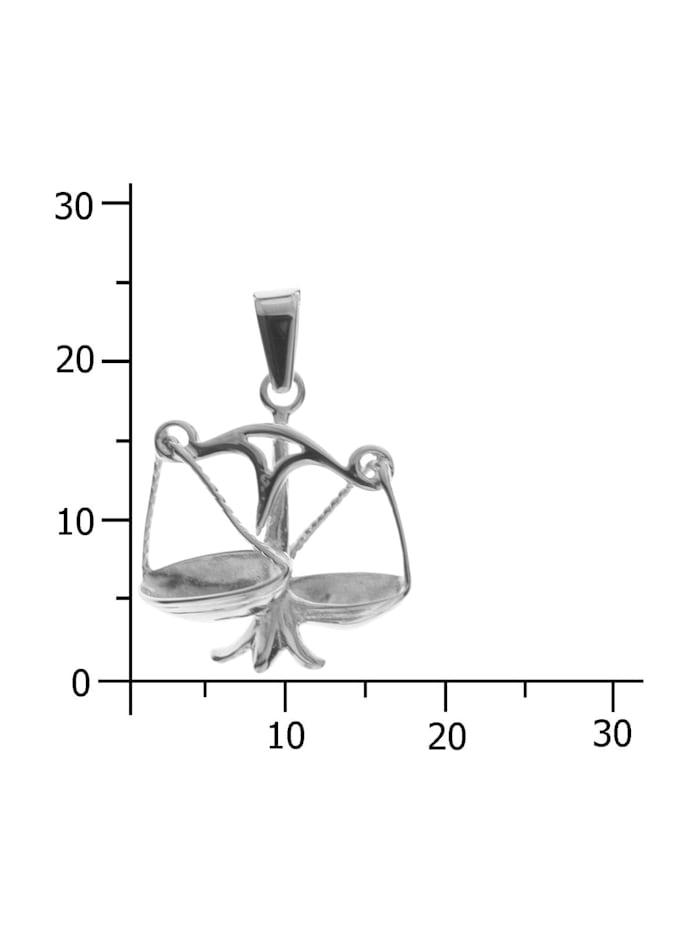 Anhänger - Tierkreiszeichen Waage - Silber 925/000 - ,
