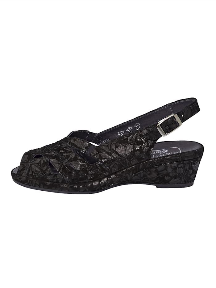 Kukkakuvioiset sandaletit