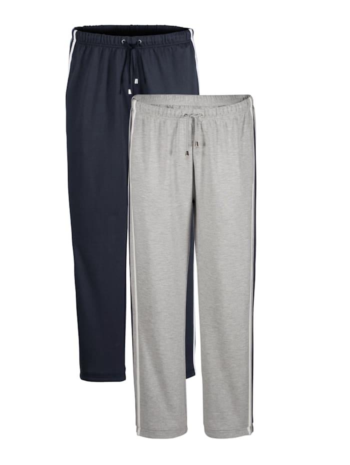 BABISTA Pantalons de loisirs par lot de 2, Marine/Gris