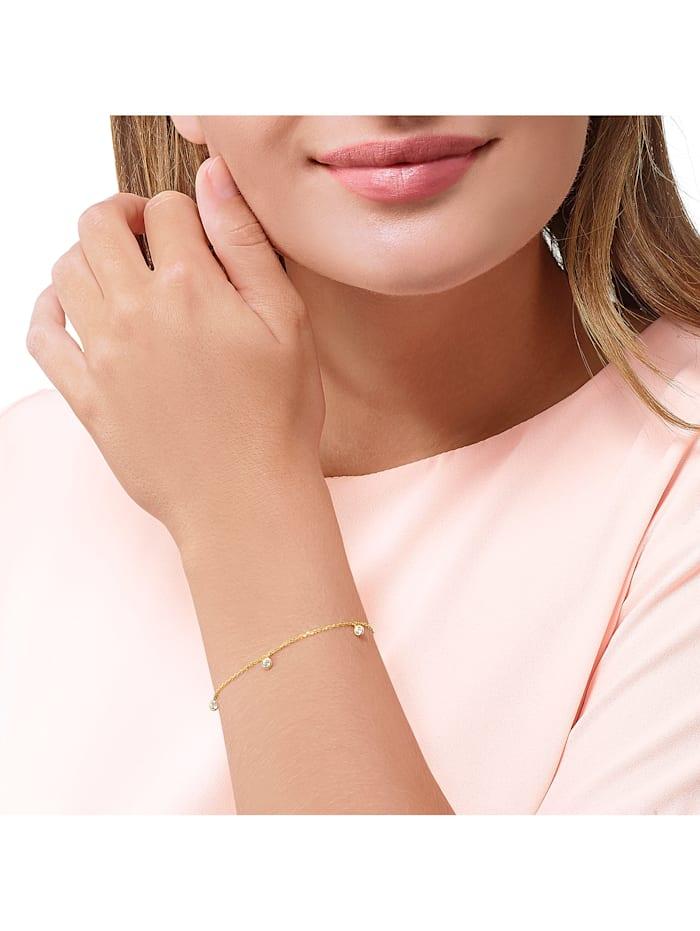 FAVS Damen-Armband 375er Gelbgold 3 Zirkonia