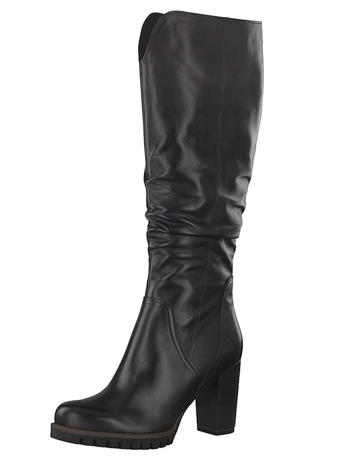 Marco Tozzi PREMIO 2-2-25631-25 Damen Stiefel Elegant Leder Schwarz 002 BLACK ANTIC, BLACK ANTIC
