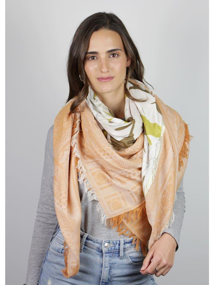 Premium Logo-Tuch mit Blätter-Motiv aus Baumwolle und Modal