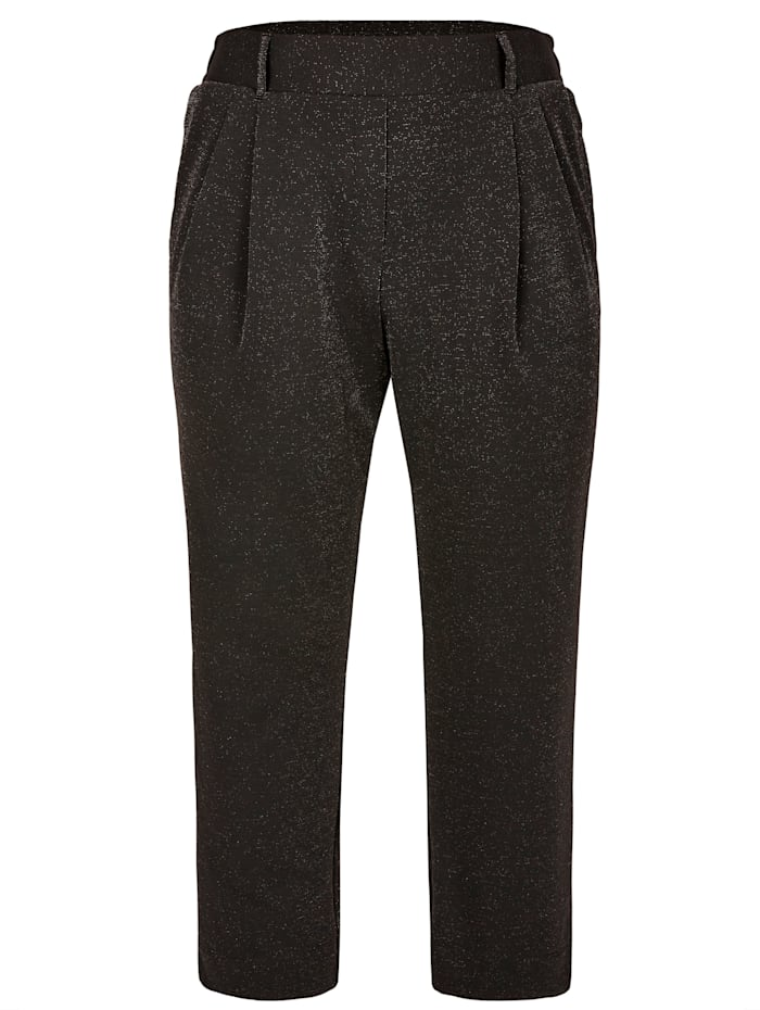 Pantalon à effet métallisé