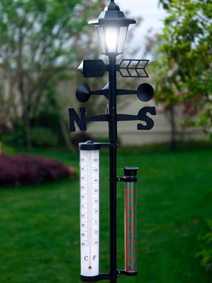 Solcellsdriven väderstation med LED