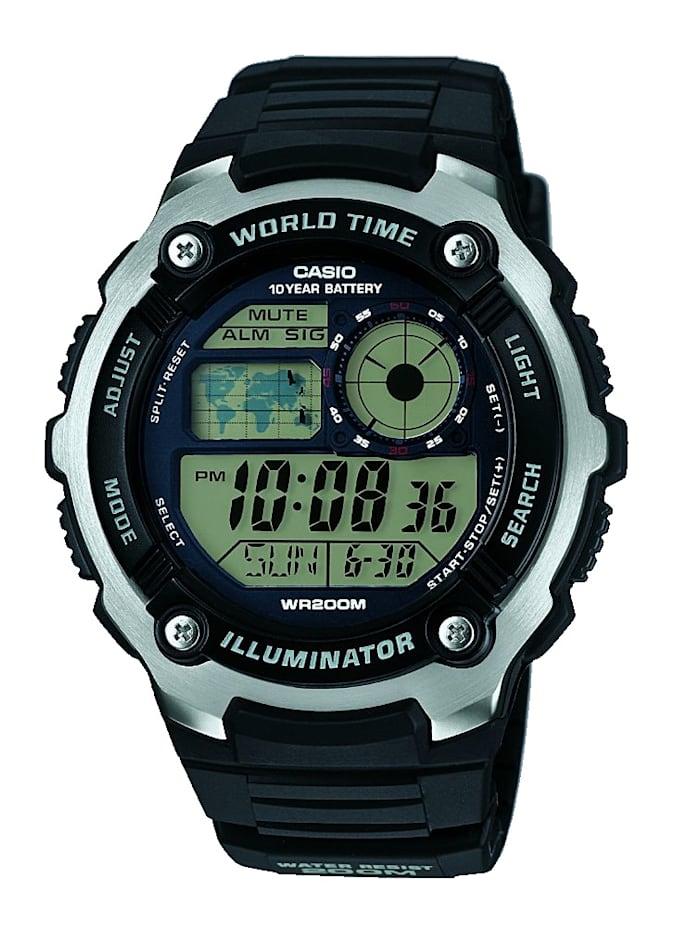 Casio Digitaluhr-Chronograph AE-2100W-1AVEF, Schwarz