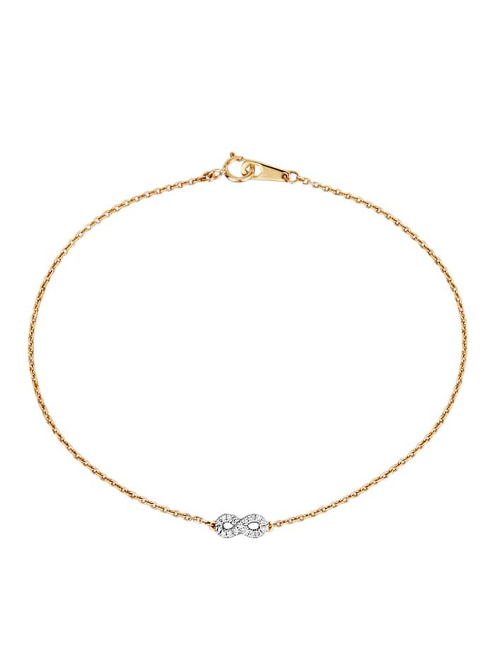 Armband mit Diamanten, Gelbgoldfarben