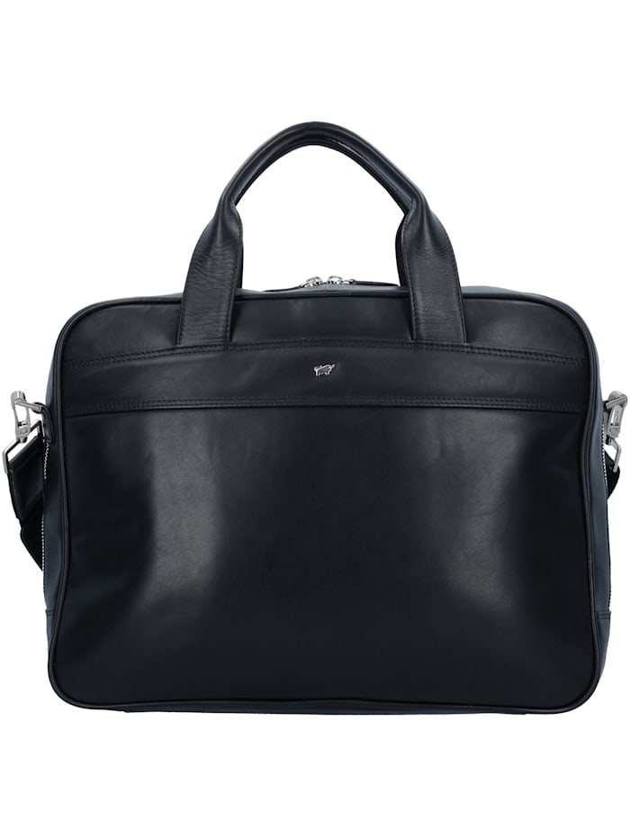 Braun Büffel Golf Aktentasche Leder 39 cm Laptopfach Tragegriff, Schlüsselhalter, schwarz