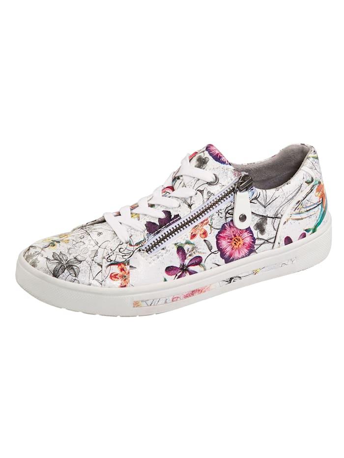 Jana Sneakers à motif floral, Multicolore