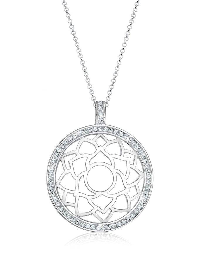 Elli Premium Halskette Chakra Ristalle 925 Sterling Silber, Silber