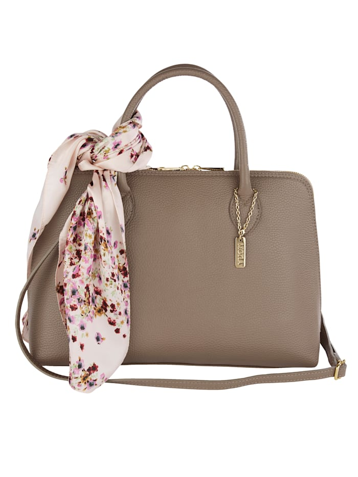 MONA Handbag with detachable scarf, Beige