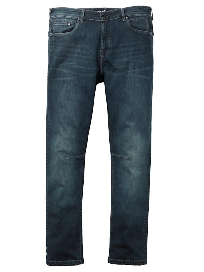 Men Plus Jeans in 5-pocketmodel, Dark blue