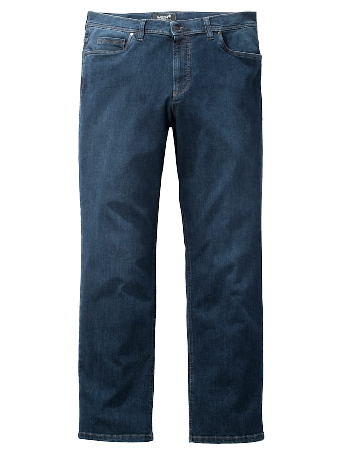 Men Plus Jeans Straight Fit, Blau