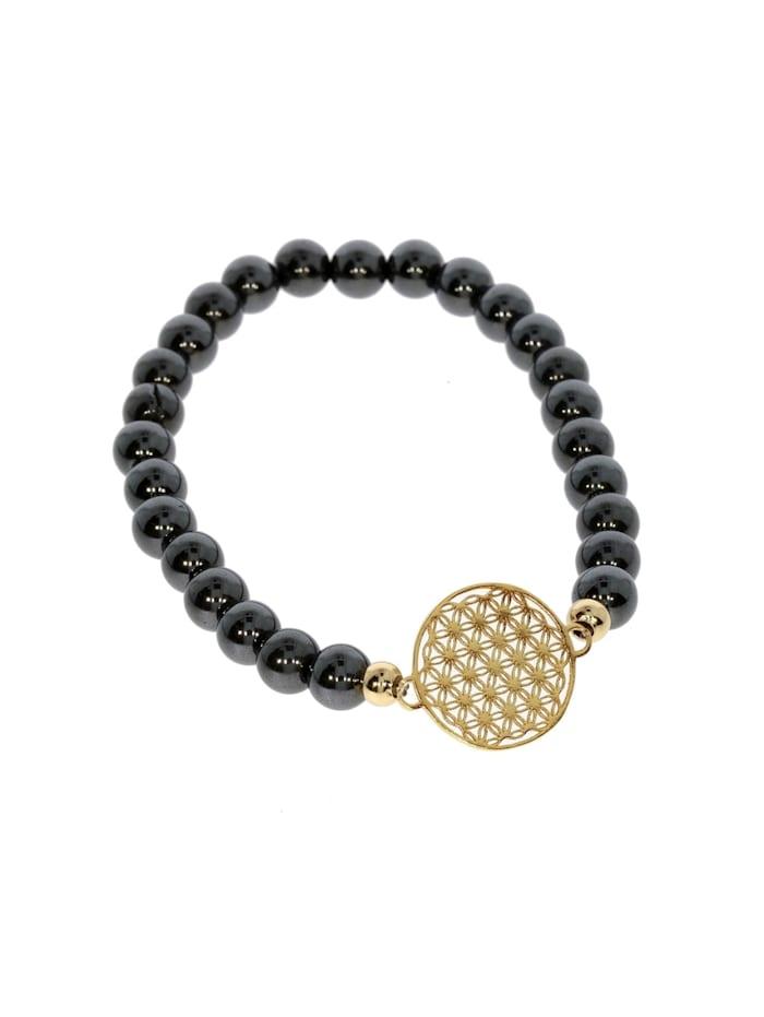 1001 Diamonds Armband 925 Silber vergoldet Hämatit, gold