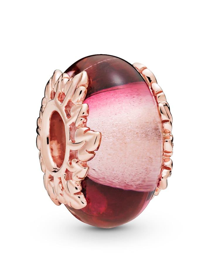 Pandora Charm -Pink Glas und Blätter- 788244, Rosé