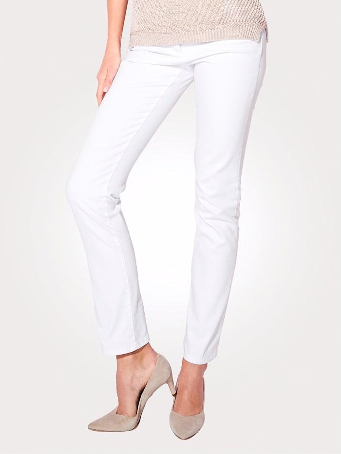 Artigiano Jean coupe 5 poches, Blanc