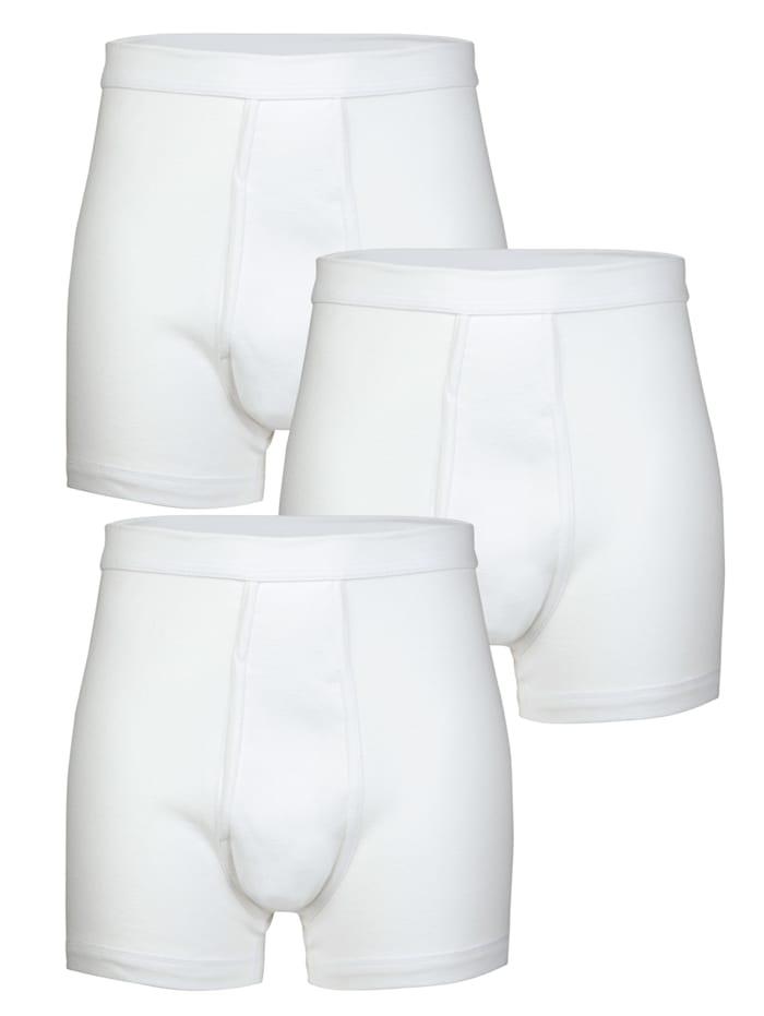 HERMKO Boxershort van merkkwaliteit, Wit