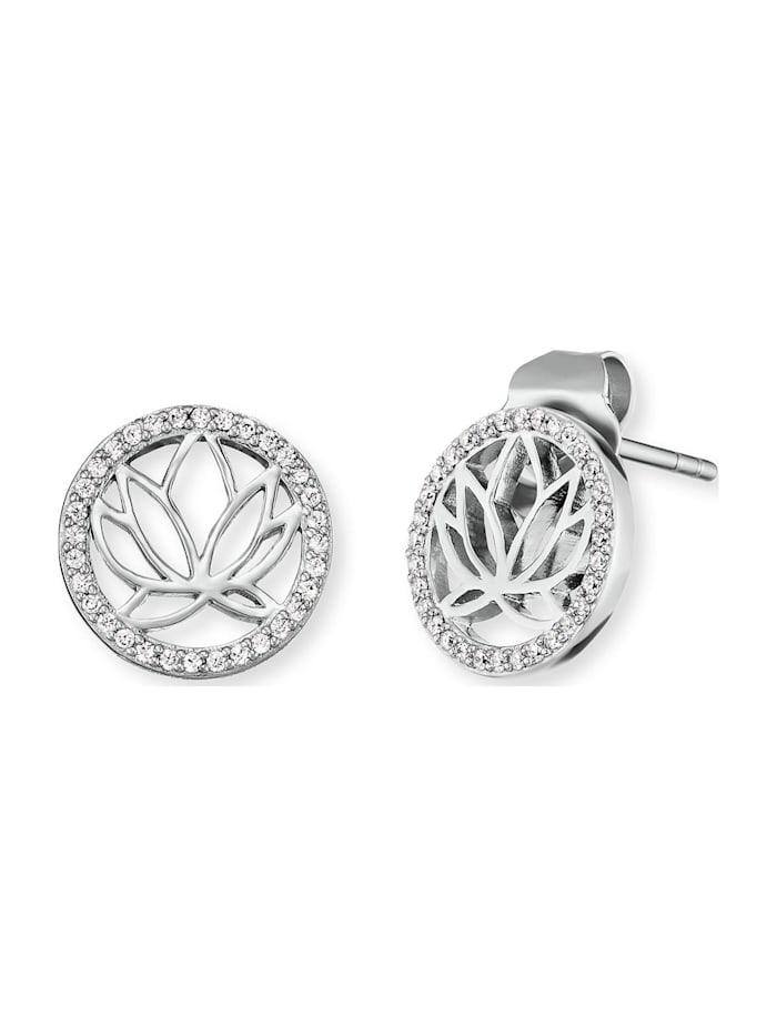 Engelsrufer Engelsrufer Damen-Ohrstecker Lotus 925er Silber, silber