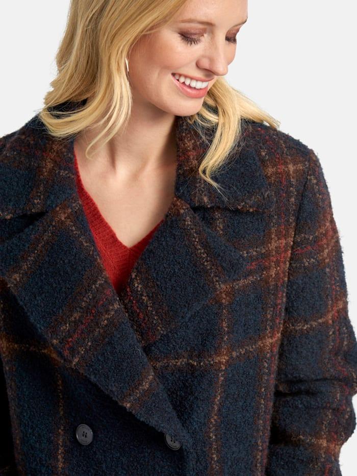 Mantel mit Reverskragen und Tartan-Muster