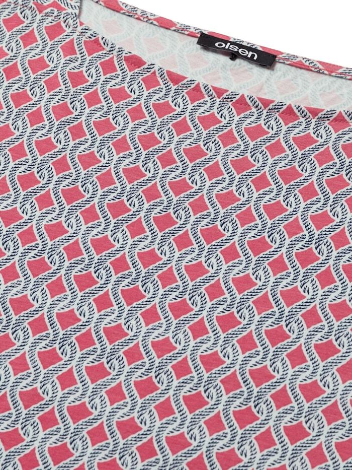 Rundhalsshirt mit maritimem Muster