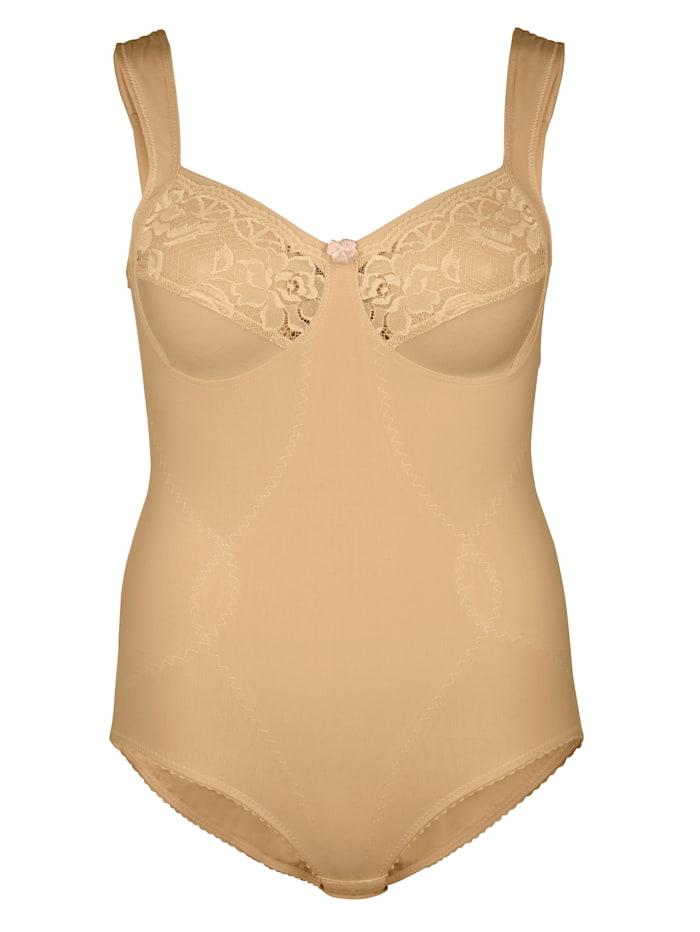 Miss Mary Shapewear Korselett aus atmungsaktivem Baumwoll-Mix, Nude