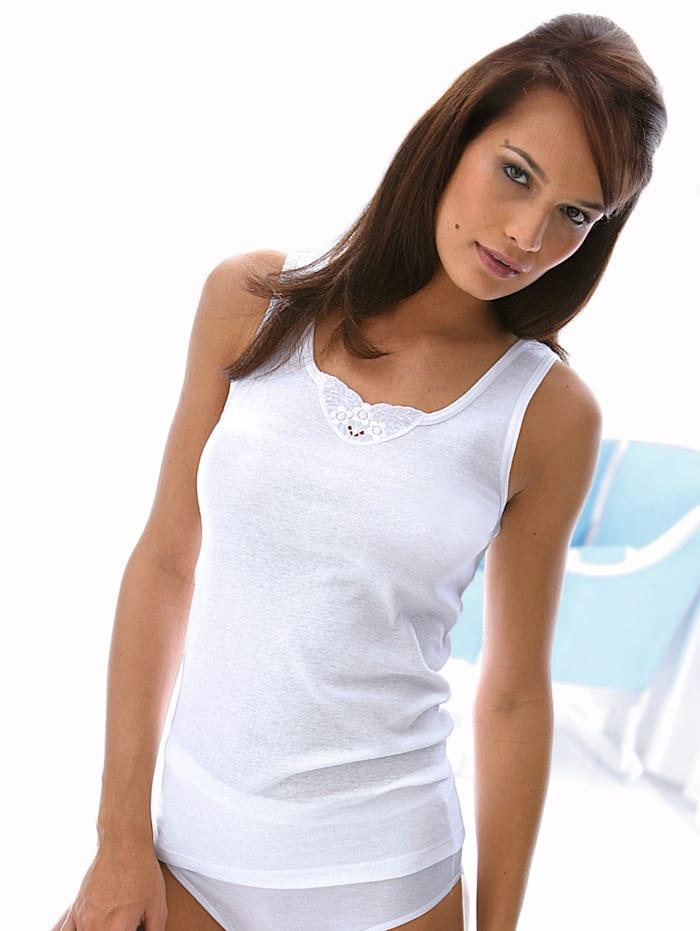 Vest Top with a round neckline