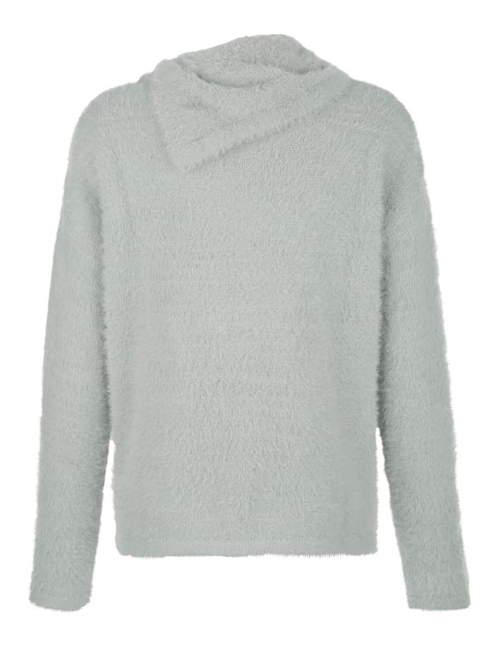 Pullover in effektvollem Flauschgarn
