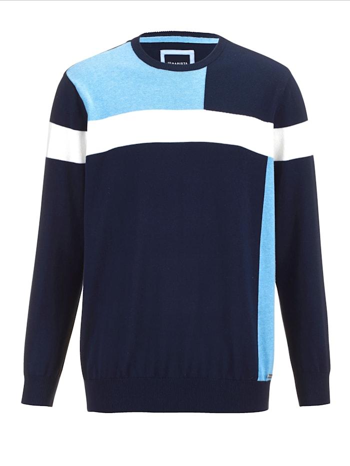 BABISTA Pullover mit grafischem Muster im Vorderteil, Marineblau