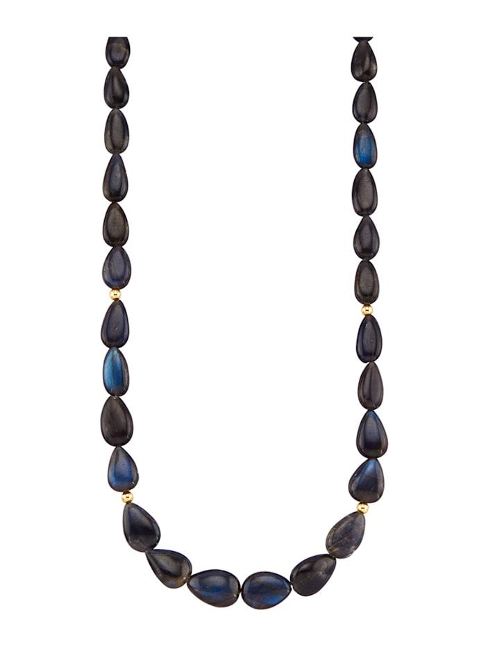Diemer Farbstein Labradorit-Halskette, Blau