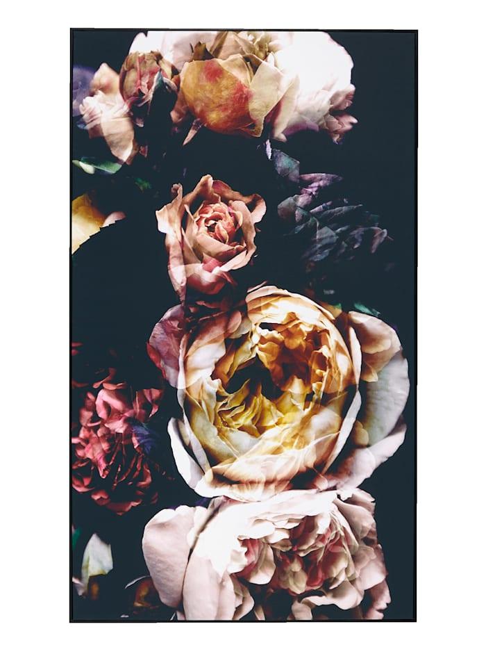 IMPRESSIONEN living Bild, Floral XL, schwarz/rosa