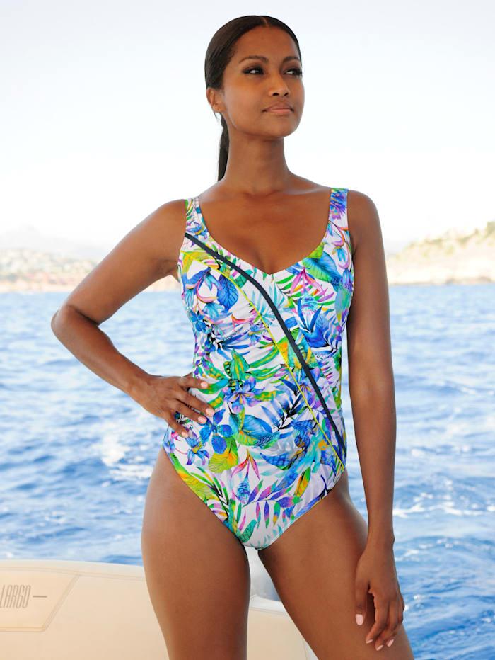 Sunflair Badeanzug mit Netzvorderfutter, Weiss