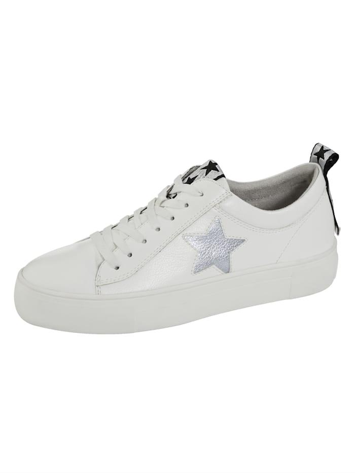 """Liva Loop Sneakers à plateau avec application """"étoile"""", Blanc"""